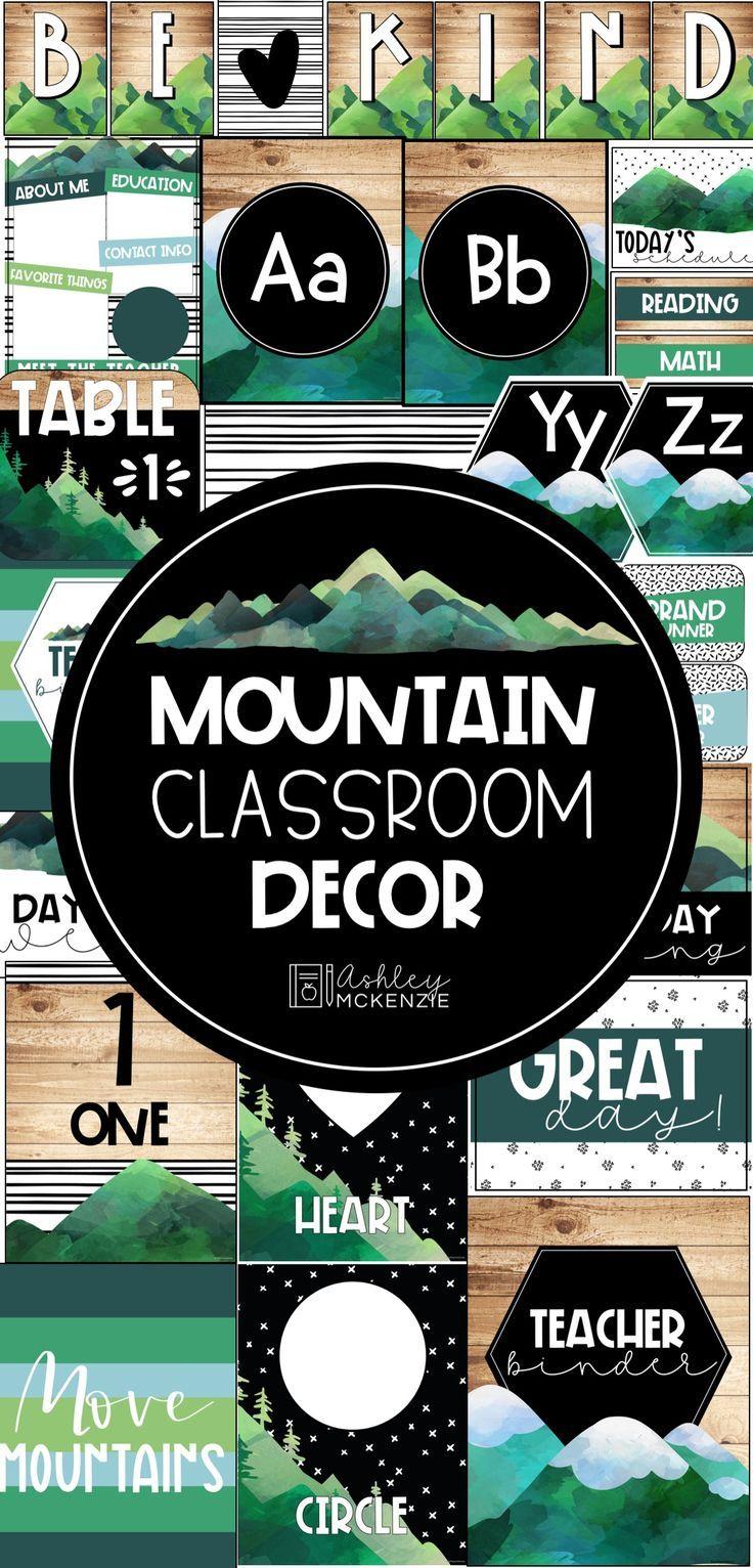 Scandinavian Mountains Classroom Decor