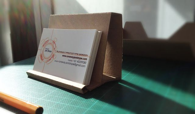 Cardboard business card holder cardboard pinterest business cardboard business card holder colourmoves