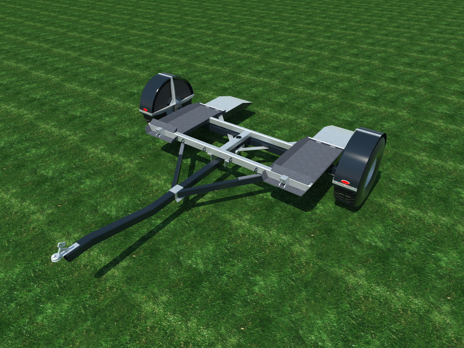 car tow dolly plans diy vehicle carrier auto towing system [ 1600 x 1200 Pixel ]