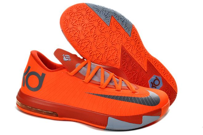 """wholesale dealer 1a343 ad2f5 Kevin Durant KD 6""""NYC 66″Men Size Basketball Shoes Total Orange Armory Slate"""