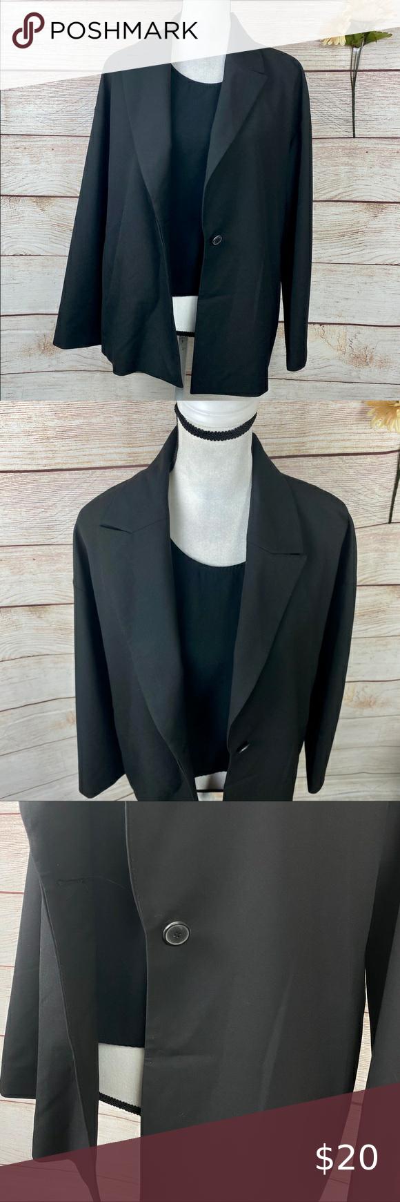 Zara Uniform Women S Black Blazer Suit Jacket Womens Black Blazer Black Blazer Blazer [ 1740 x 580 Pixel ]