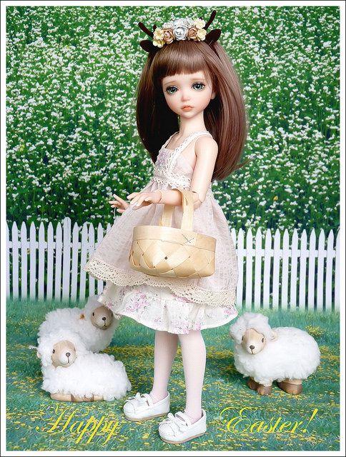 Happy Easter | Flower girl dresses, Ball jointed dolls