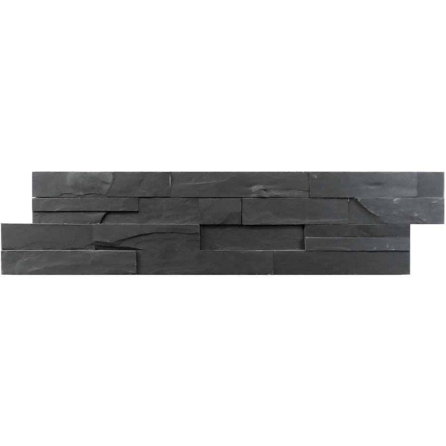 Shop Avenzo 6 Pack 24 In X Black Natural Slate Wall