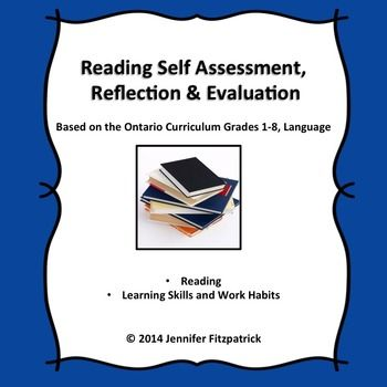 Reading Self-Assessment, Reflection and Evaluation Reading fluency