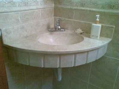Cubiertas de lavabo bano en marmol travertino granito dpa for Lavabos de marmol y granito