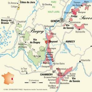 Le Vignoble Du Bugey Vin De France Carte Des Vins Savoie