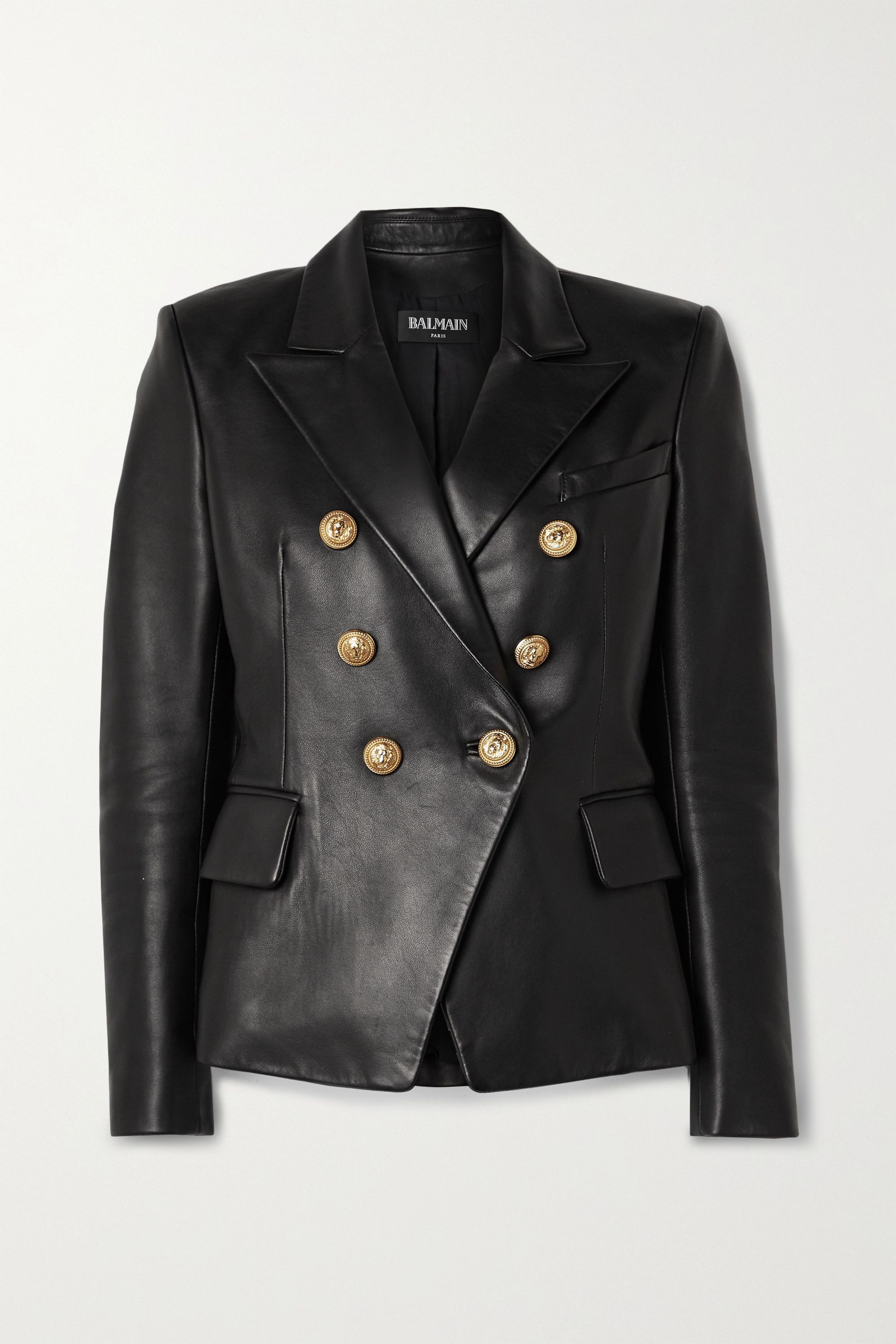 Double Breasted Leather Blazer In 2020 Leather Blazer Balmain Blazer Double Breasted [ 3000 x 2000 Pixel ]