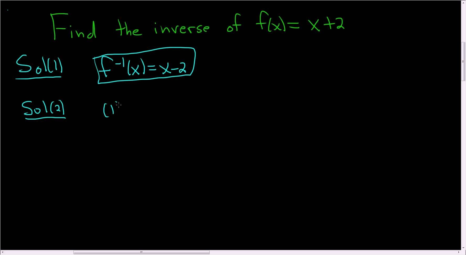 Finding The Inverse Of The Linear Function F X X 2 Linear Function Math Videos Maths Exam [ 970 x 1776 Pixel ]