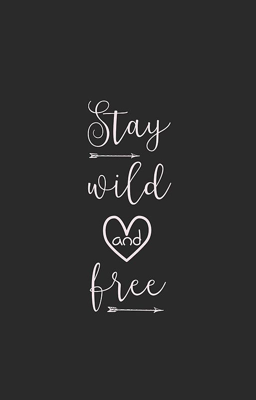 Stay Wild And Free Inspirational Quote' IPhone Case By SagoDesign Unique Free Inspirational Quotes