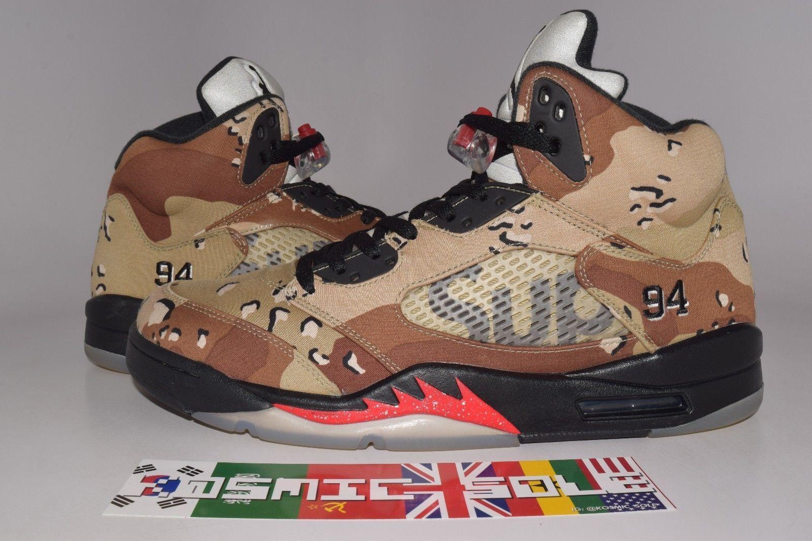 Nike Air Jordan 5 Retro Supreme Desert Camo Style # 824371