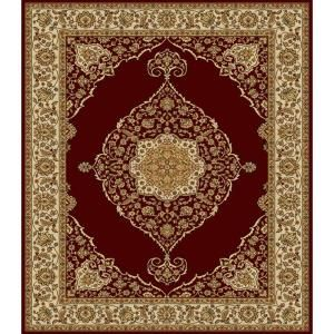 Home Dynamix Bazaar Emy Red Ivory 7 Ft X 10 Area The Depot