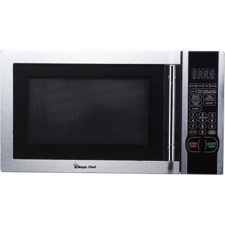 Magic Chef 1 1 Cu Ft Digital Microwave Stainless Steel 1 000
