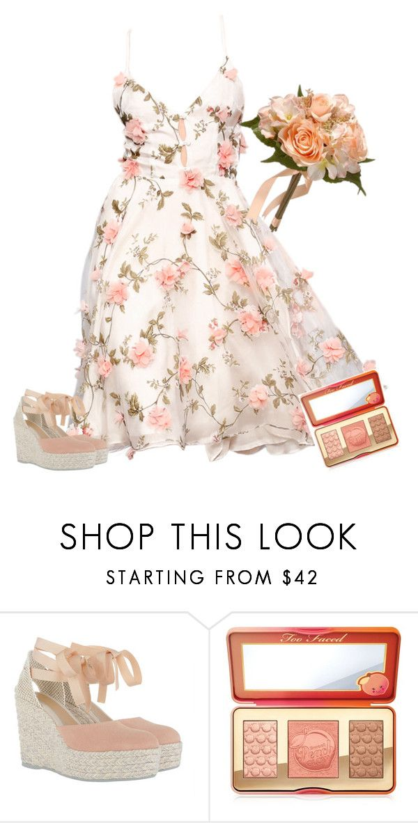 """""""Sweet"""" by shays22 ❤ liked on Polyvore featuring Ida Sjöstedt, Manebí, Too Faced Cosmetics and National Tree Company"""