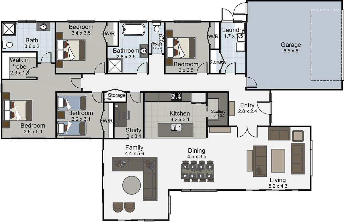 Recital 4 Bedroom House Plan Landmark Homes Builders Nz
