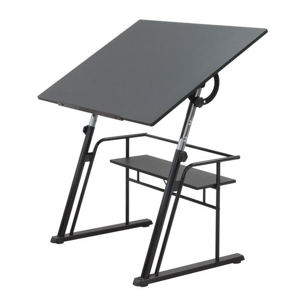 Studio Designs Black Zenith Drafting and Hobby Craft Table