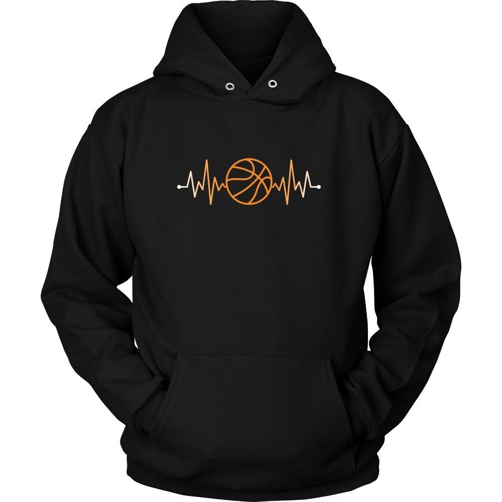 Show how proud basketball fan you are wearing basketball rhythm basketball pulse tee or hoodie custom basketball shirts by teelime cool designs