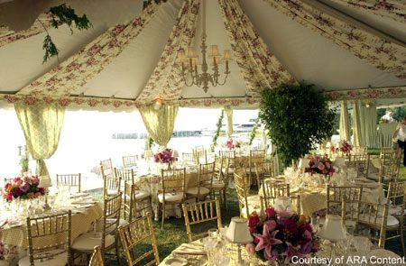 Wedding Tent Decoration Decorated Photo