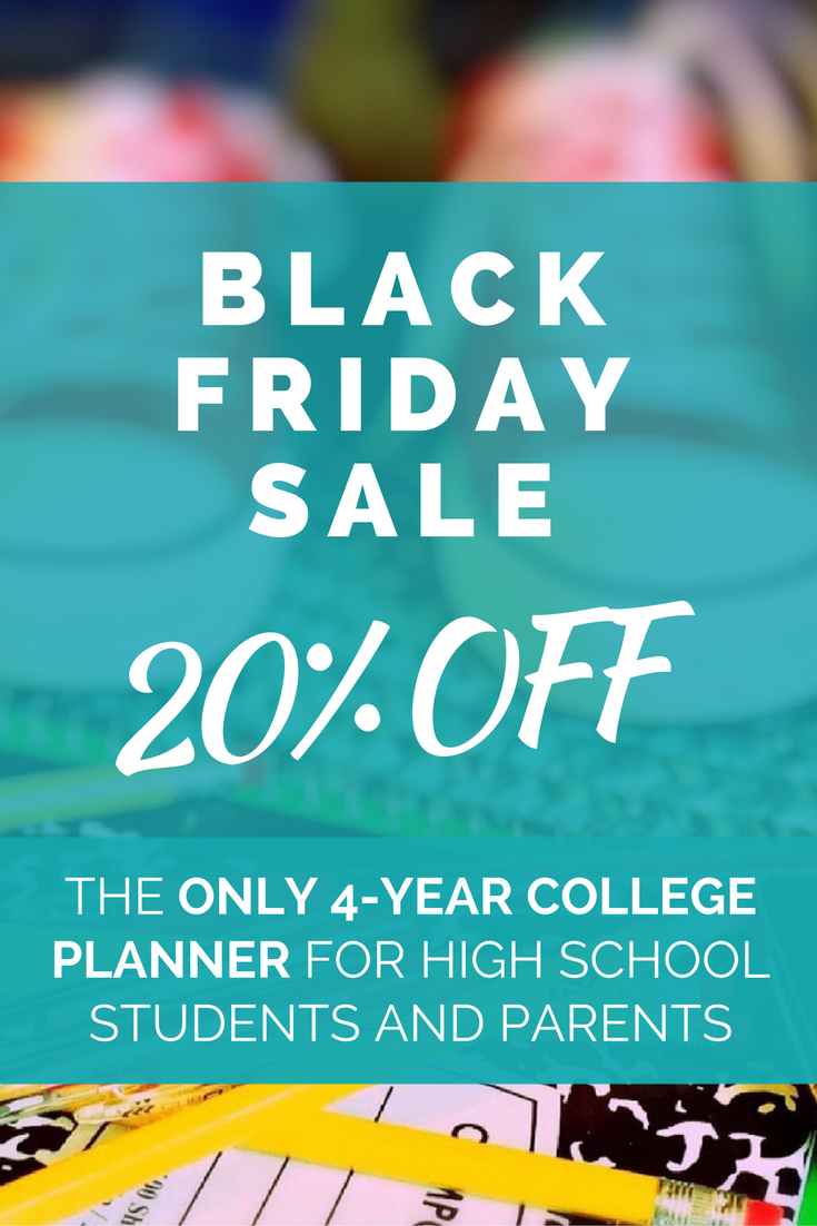 Celebrate Black Friday by taking 20% OFF a comprehensive college planner! Use promo code BLACKFRIDAY at checkout for 20% off your entire purchase!
