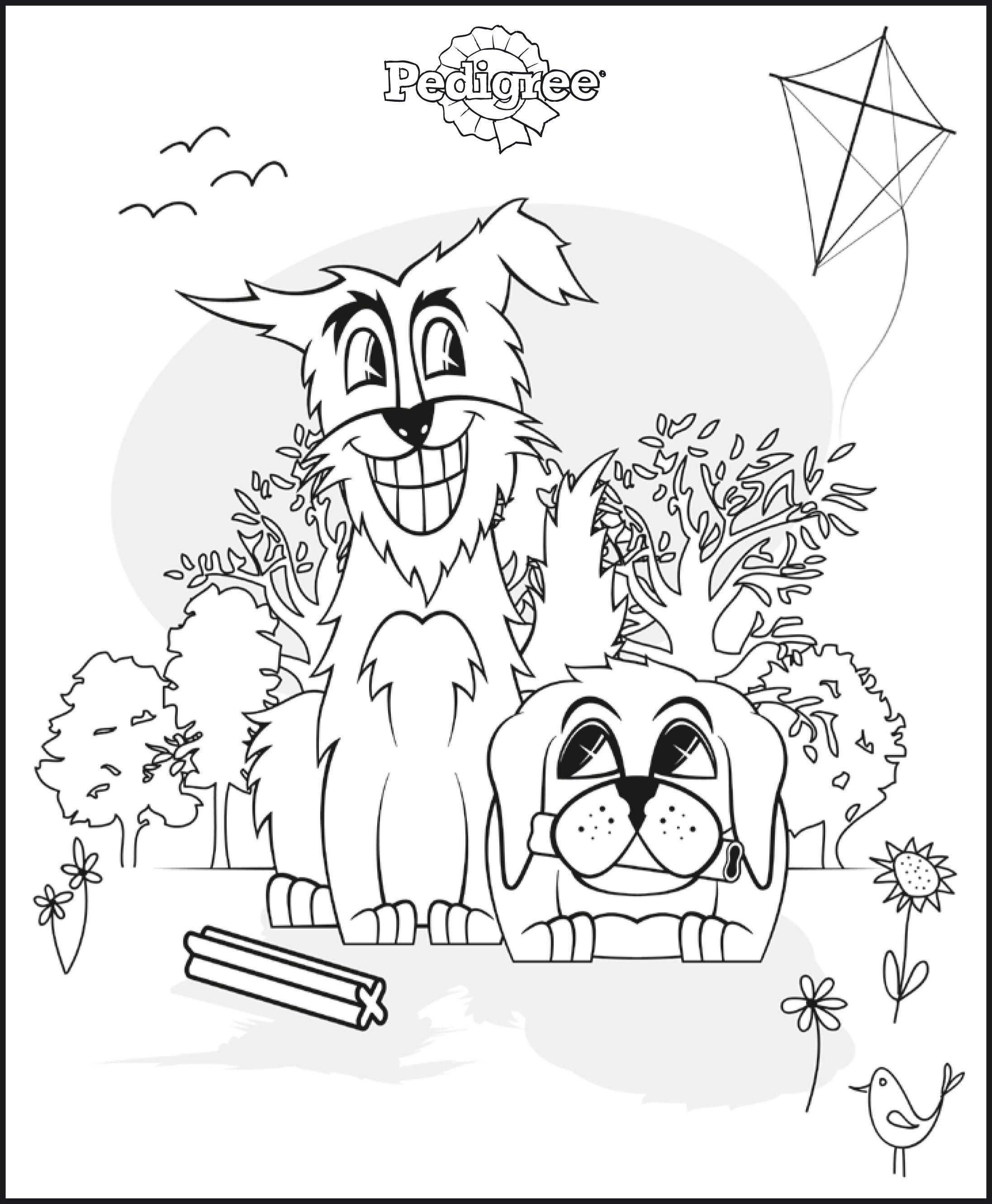 Voor De Allerkleinsten Kleurplaten Van Honden Honden Kleurplaten Hondenvoer