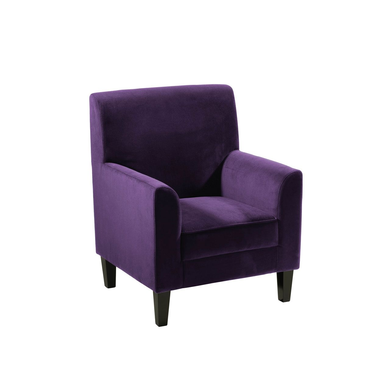 Purple Chair. Purple Velvet Wingback Chair. 30th Anniversary Retro ...