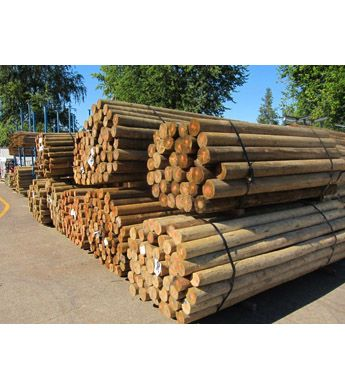 4 Treated Blunt Wood Post 12 Ft Wilco Farm Stores Wood Post Termite Control Termites