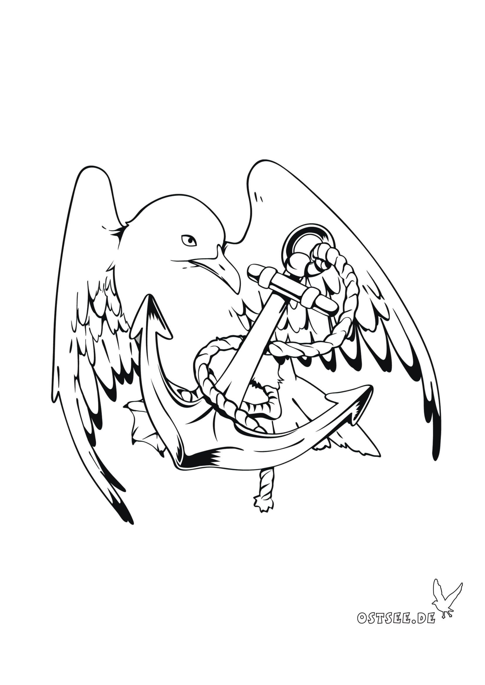 Malvorlage Anker  Malvorlagen, Kritzelei tattoo, Vorlagen
