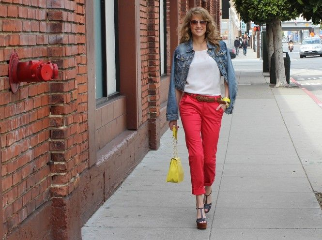 How to Work the Color Wheel in Cherry Capris   Savvy Spice