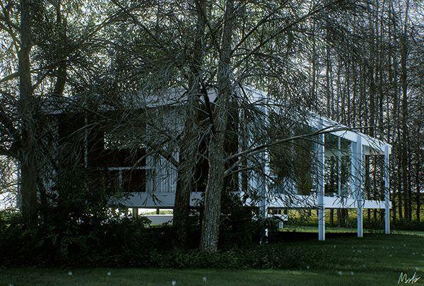Mies van der rohe farnsworth house by alessandro prodan