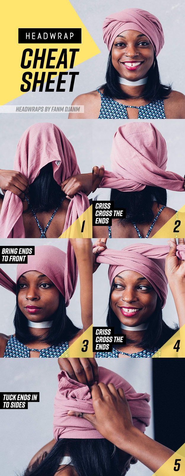 8 Gorgeous Head Wrap Styles You Can Learn In 7 Steps Or Less #tieheadscarves