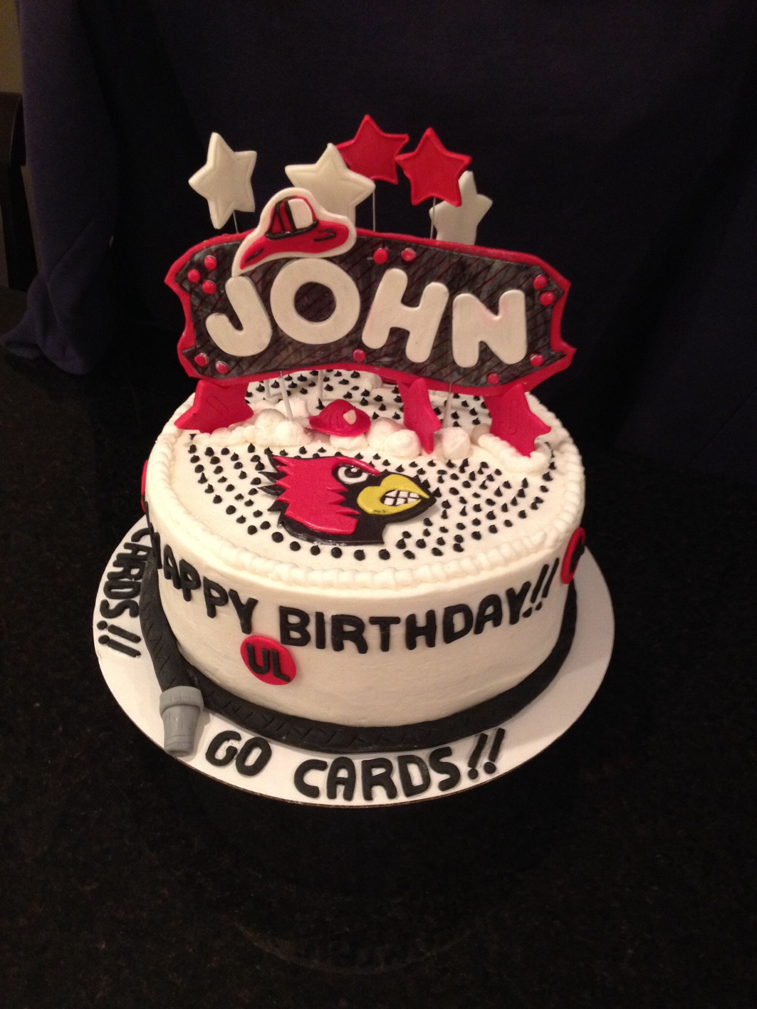 Birthday Cake For John : Happy Birthday, John....our favorite fireman ...