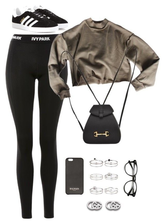 """Untitled #10926"" by katgorostiza ❤ liked on Polyvore featuring Topshop, adidas Originals, Gucci, Balmain and Miss Selfridge"