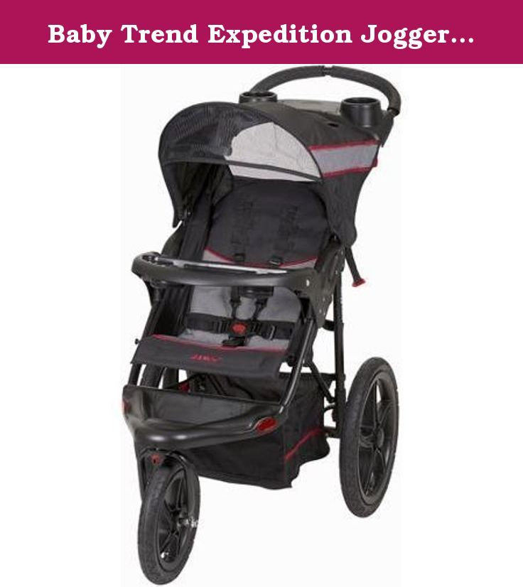 Baby Trend Expedition Jogger Stroller, Millennium by Baby Trend. The Millennium Baby Trend Expedition Stroller is for a child from 6-50 lbs;Max height limit: 42 tall;Multi-position, reclining, padded seat;Fully adjustable, 5-point safety harness and tether strap;16 rear and 12 front all-terrain, rubber bicycle tires.