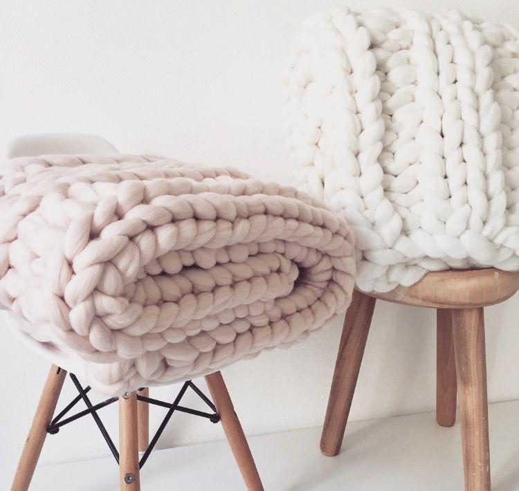 plaid grosses mailles en laine 100 m rinos tricot la. Black Bedroom Furniture Sets. Home Design Ideas