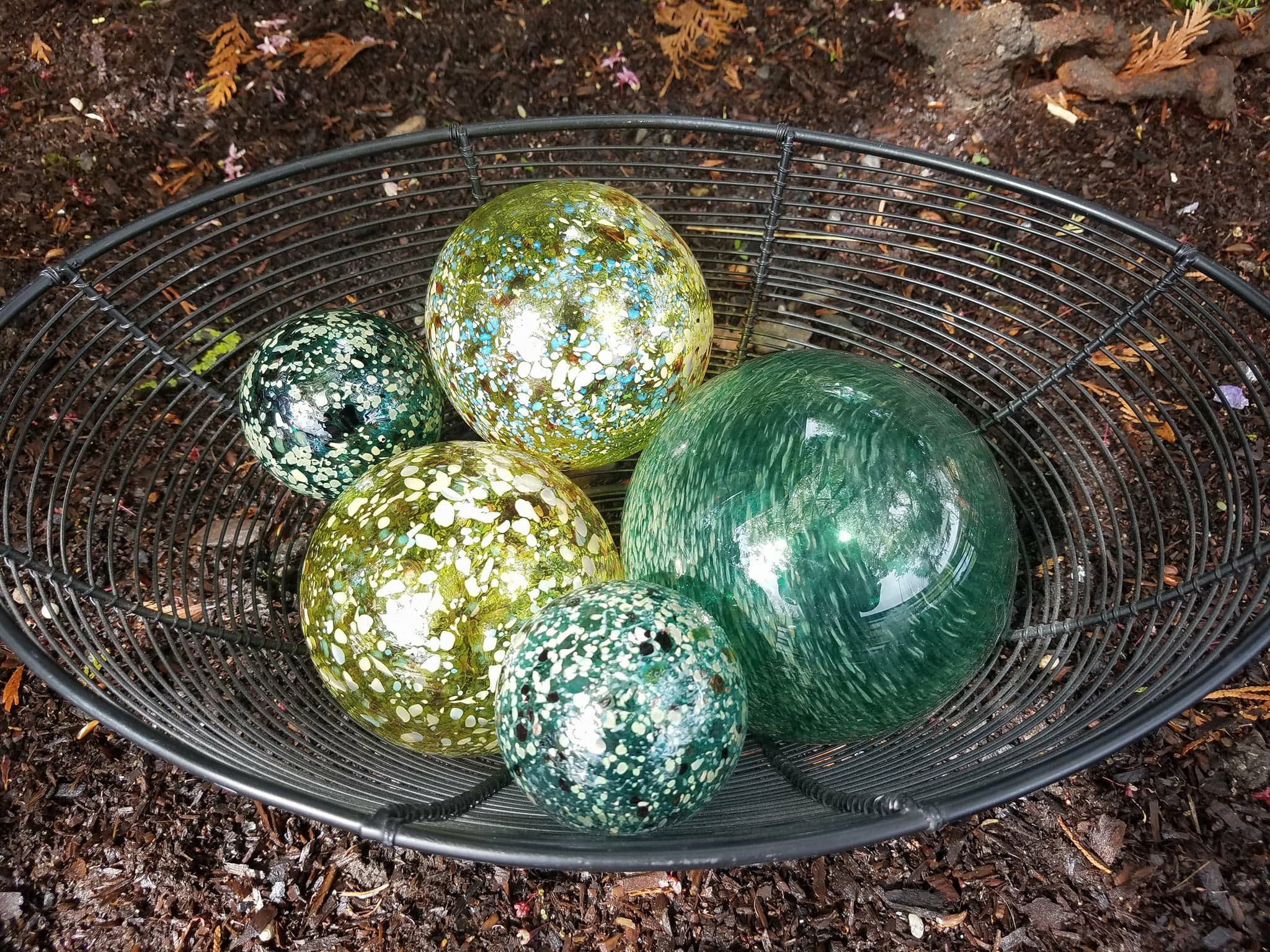 recycled clear recyc dia glass balls products large decorative ball decor