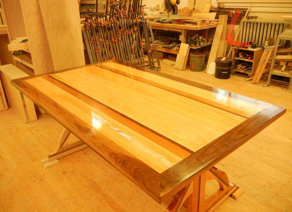 Handmade Custom Built Dining Room Tablecherry Maple Black Best Handmade Dining Room Tables Design Ideas