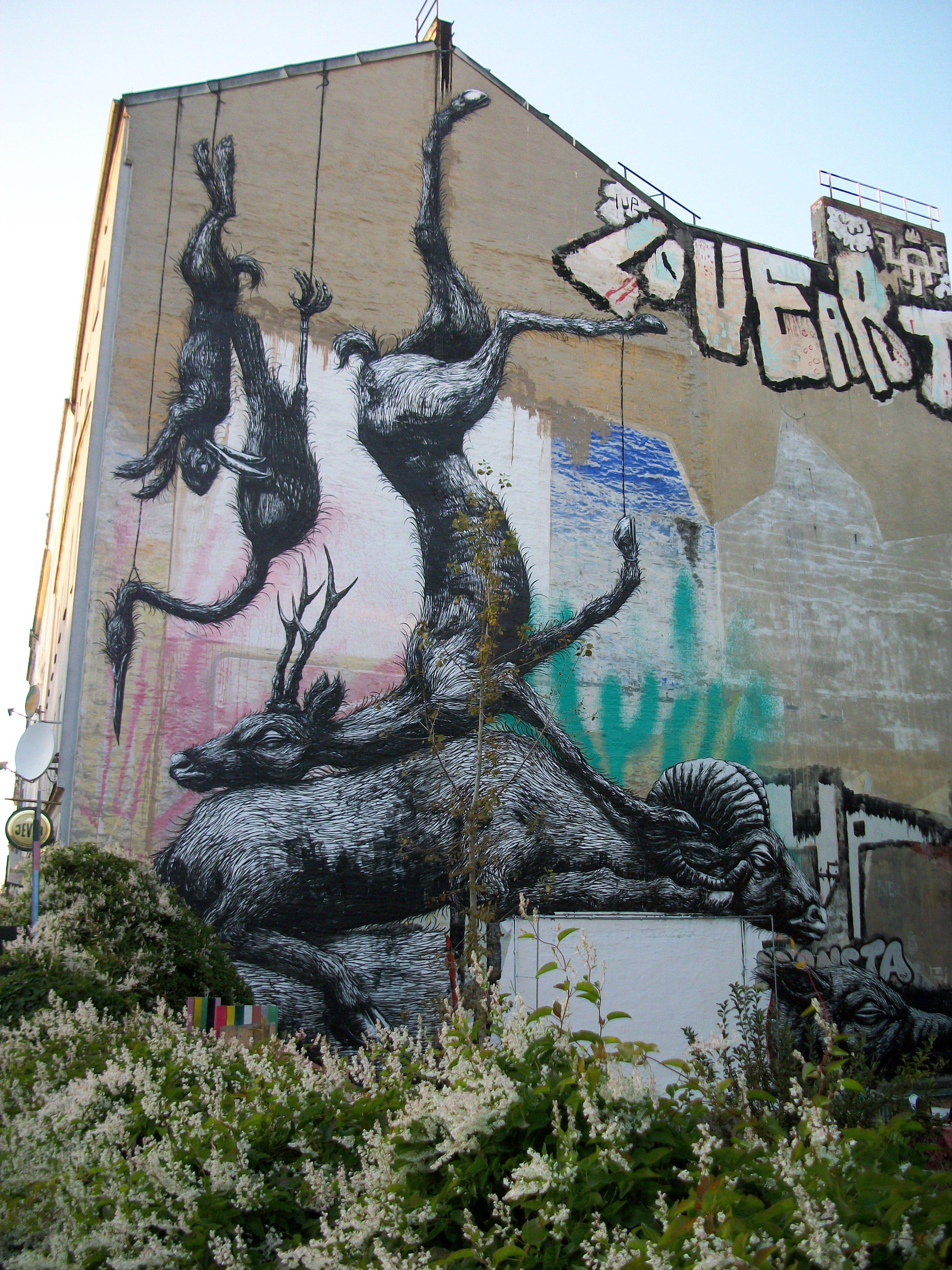 Zimmerwand graffiti straatkunst  berlijn  streetart  pinterest
