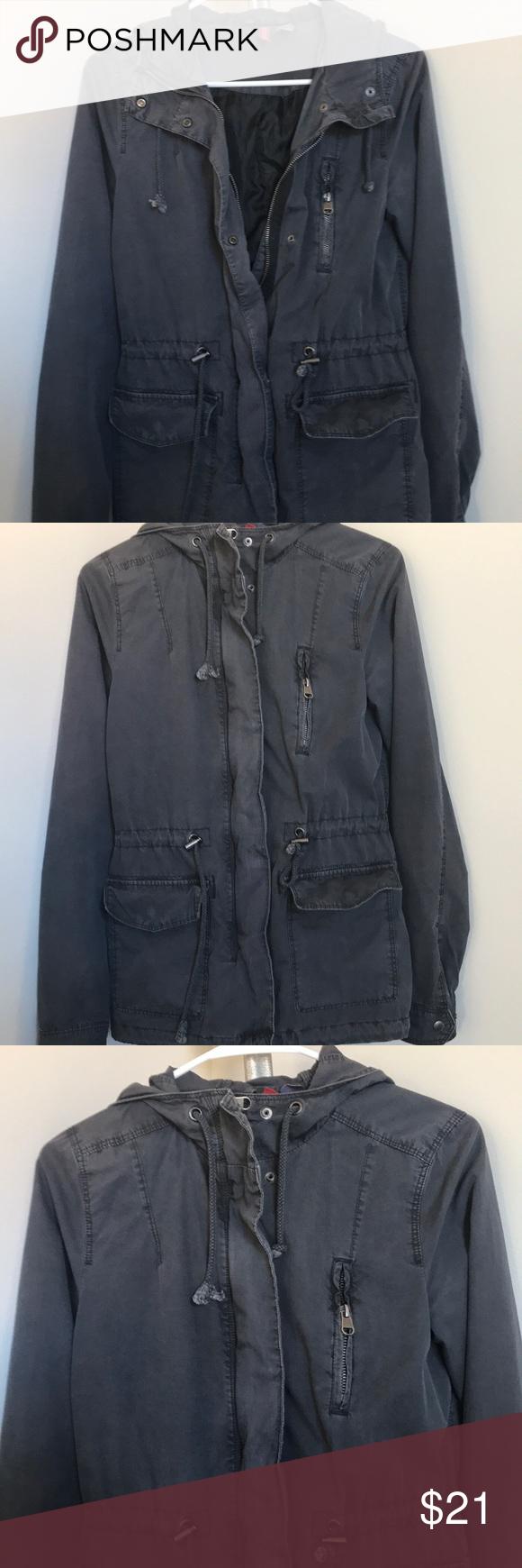 H&M Grey Utility Jacket | Grey utility jacket, Jackets