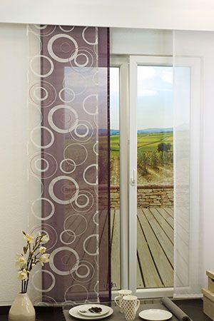 Transparente Schiebegardinen Mit Anderen Stoffen Kombiniert   Tolle Deko  Für Fenster Und Türen   Transparent Curtains Combined With Other Fabrics  #kreise ...