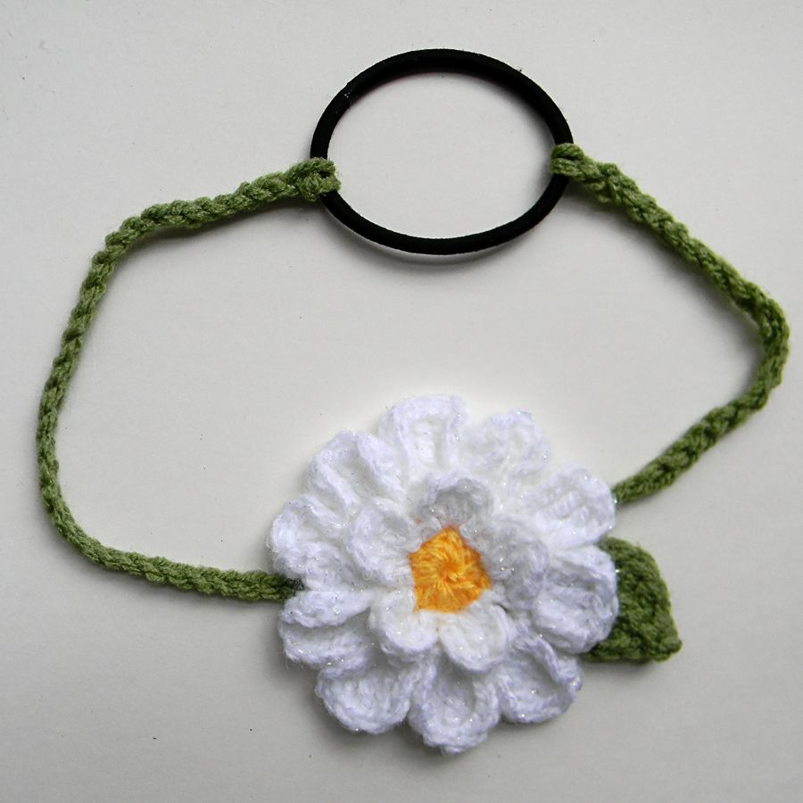 15 petal Daisy Headband with hairband attached for stretchiness ...