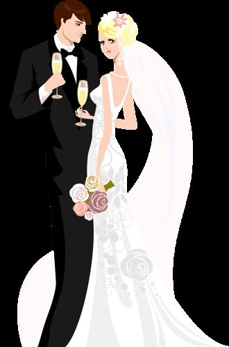 la boda, el matrimonio, la recepción, la celebración, la pareja, los