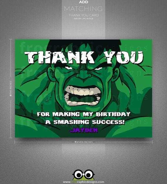 FREE Printable Incredible Hulk Birthday Invitation – Hulk Party Invitations