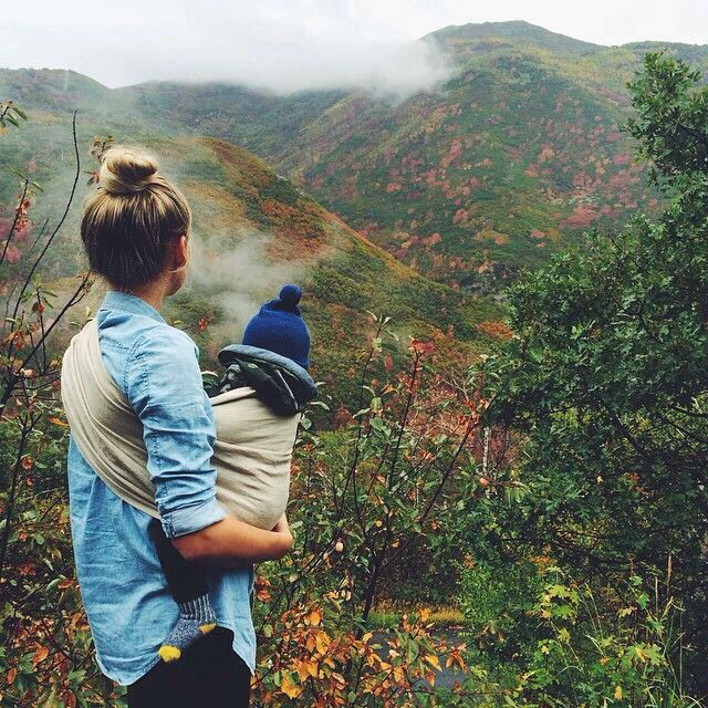 Baby Hiking Born Nature Lover Baby Wearing Travel Photo