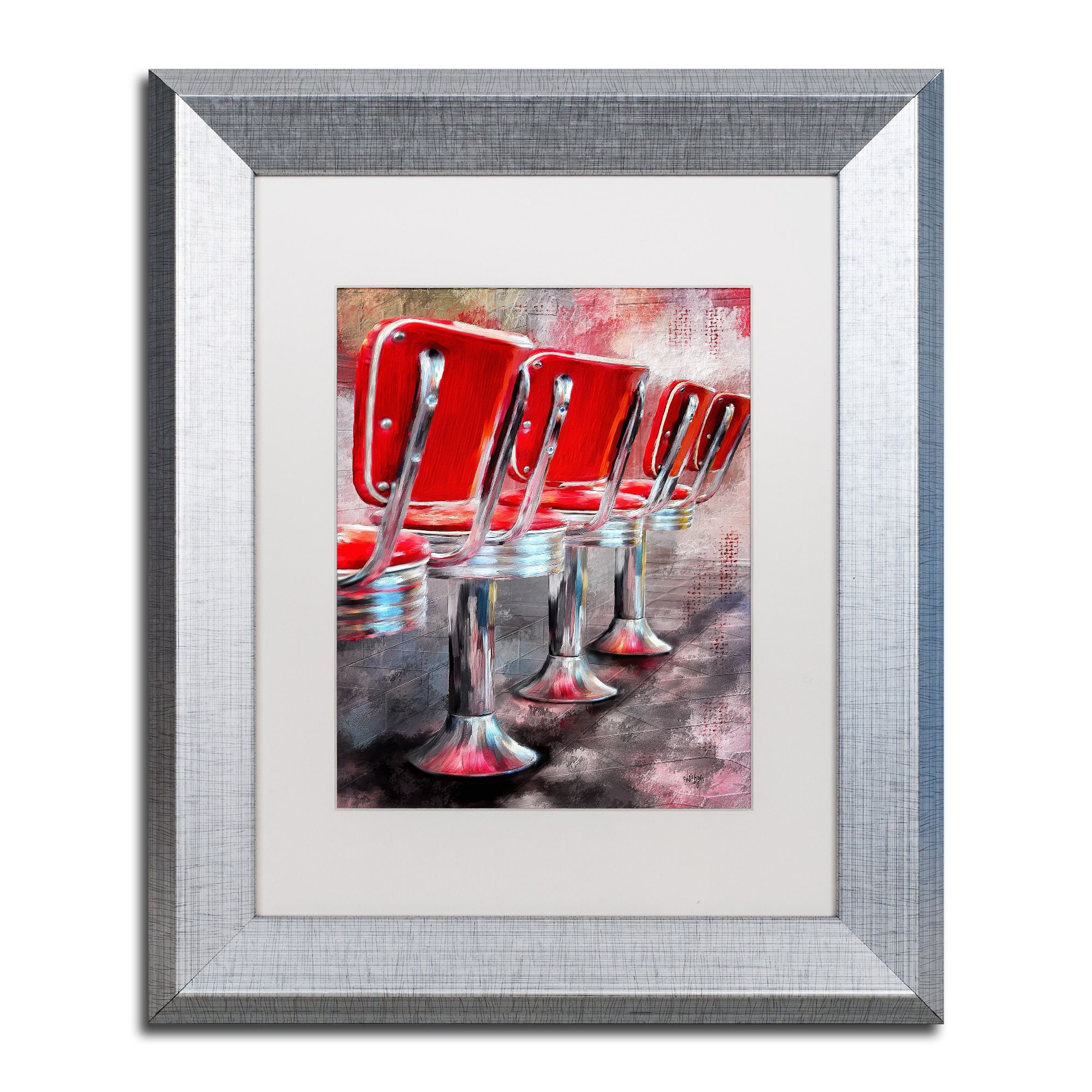Lois bryan ucounter seating availableu matted framed art products