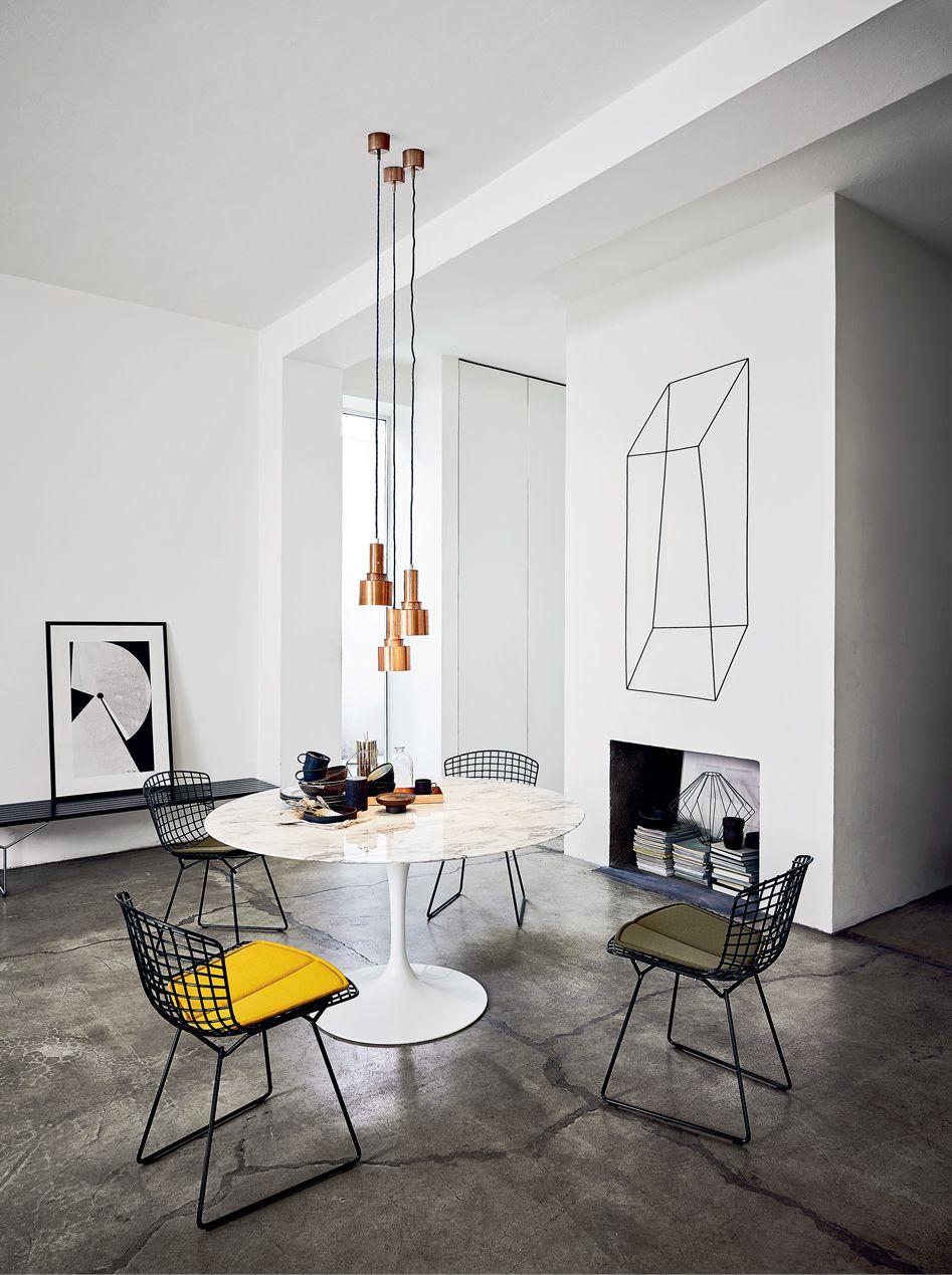 Table Florence Knoll Prix bertoia side chair | knoll | mesa saarinen, decorando