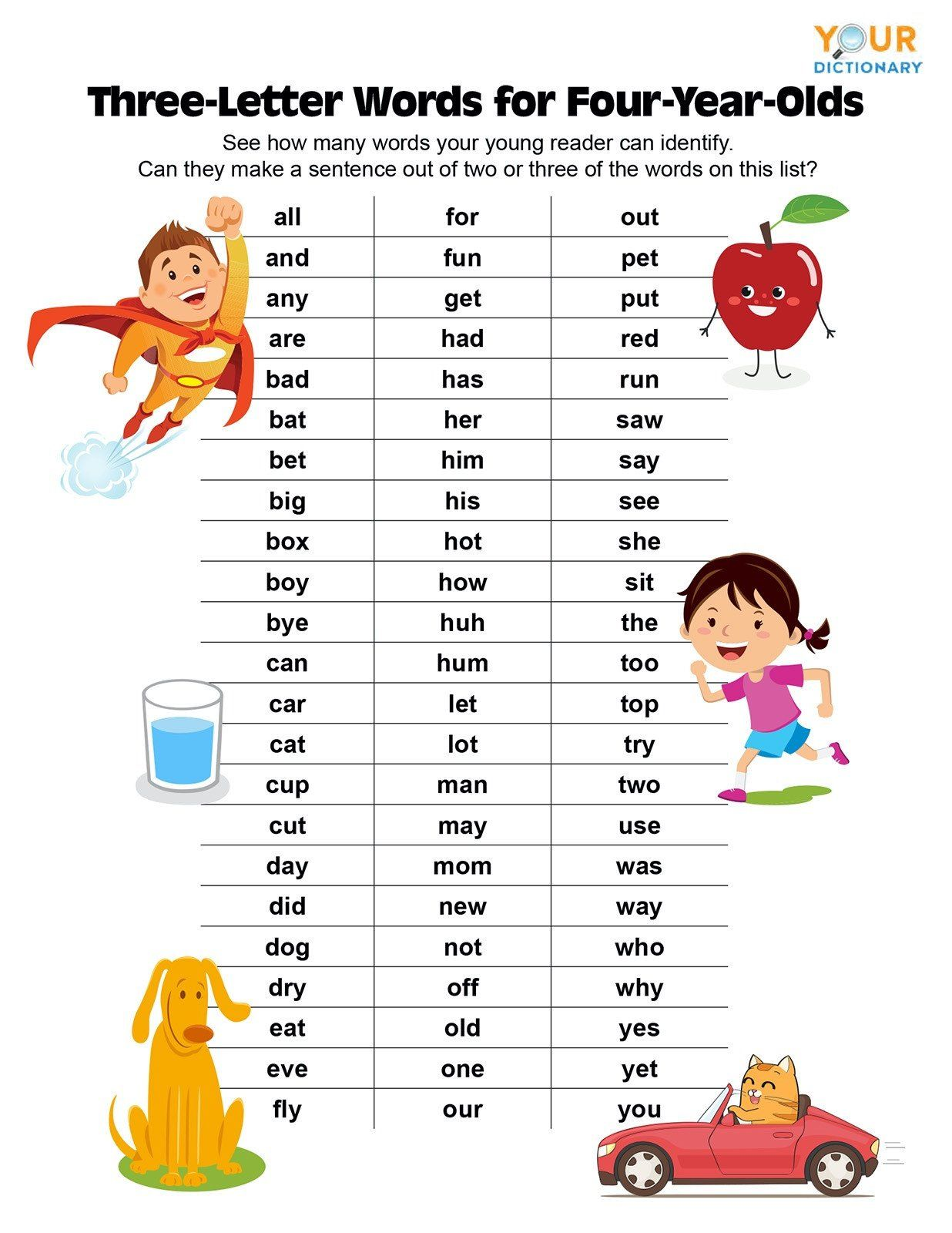 Three Letter Word Worksheets Three Letter Words For Year Olds Phonics Worksheets Dividing In 2020 Three Letter Words Letter N Words 3 Letter Words