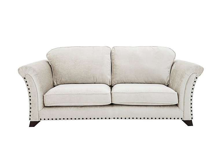 Holly 3 Seater Pillow Back Fabric Sofa With Studs Fabric Sofa Furniture Village Sofa
