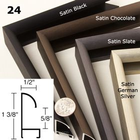 Nielsen Metal Frame Moulding Profile 24 Custom Picture Frame Framing Supplies Metal Picture Frames