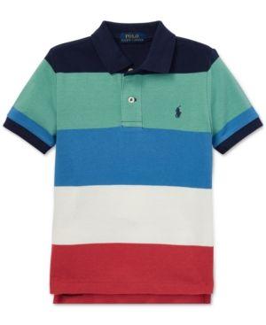 f4dd6fa5e Toddler Boys Striped Cotton Mesh Polo | Products | Polo ralph lauren ...