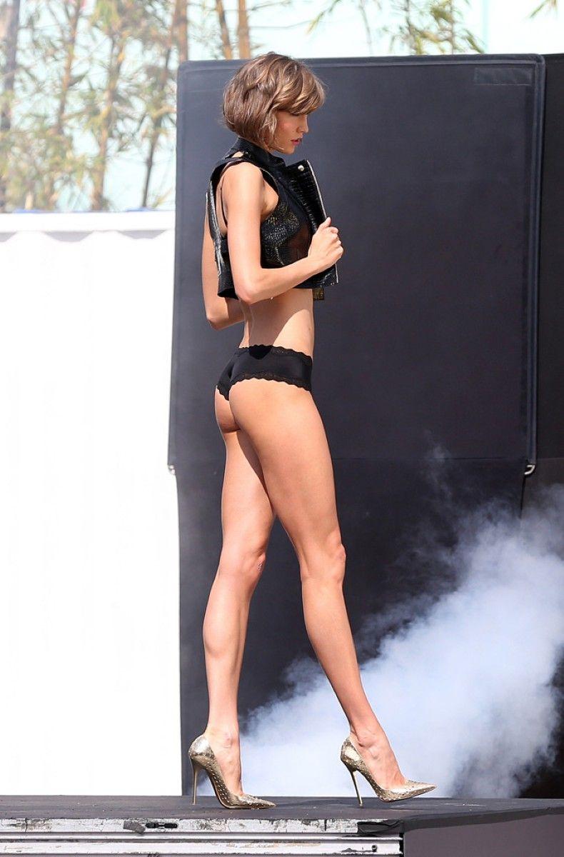 Karlie Kloss on VS photoshoot set in Miami