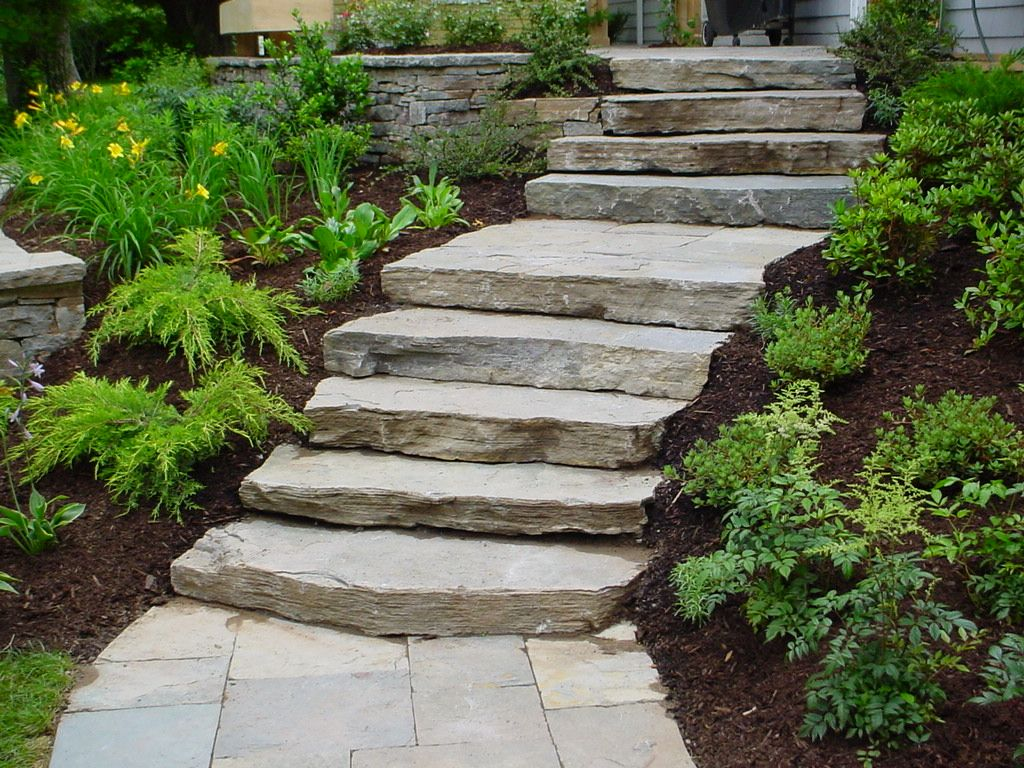 Natural stone steps products colour gallery for Pictures of stone steps